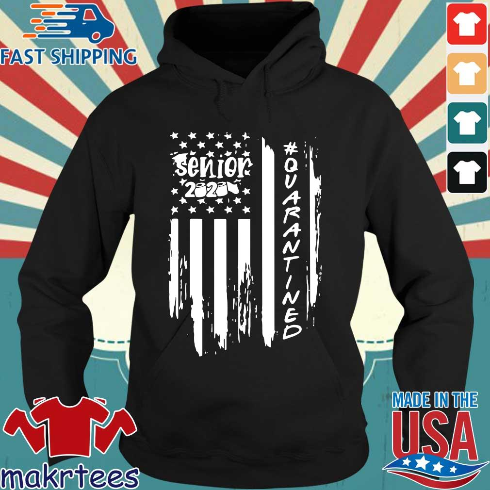 Senior 2020 Quarantine American Flag Shirt Hoodie den
