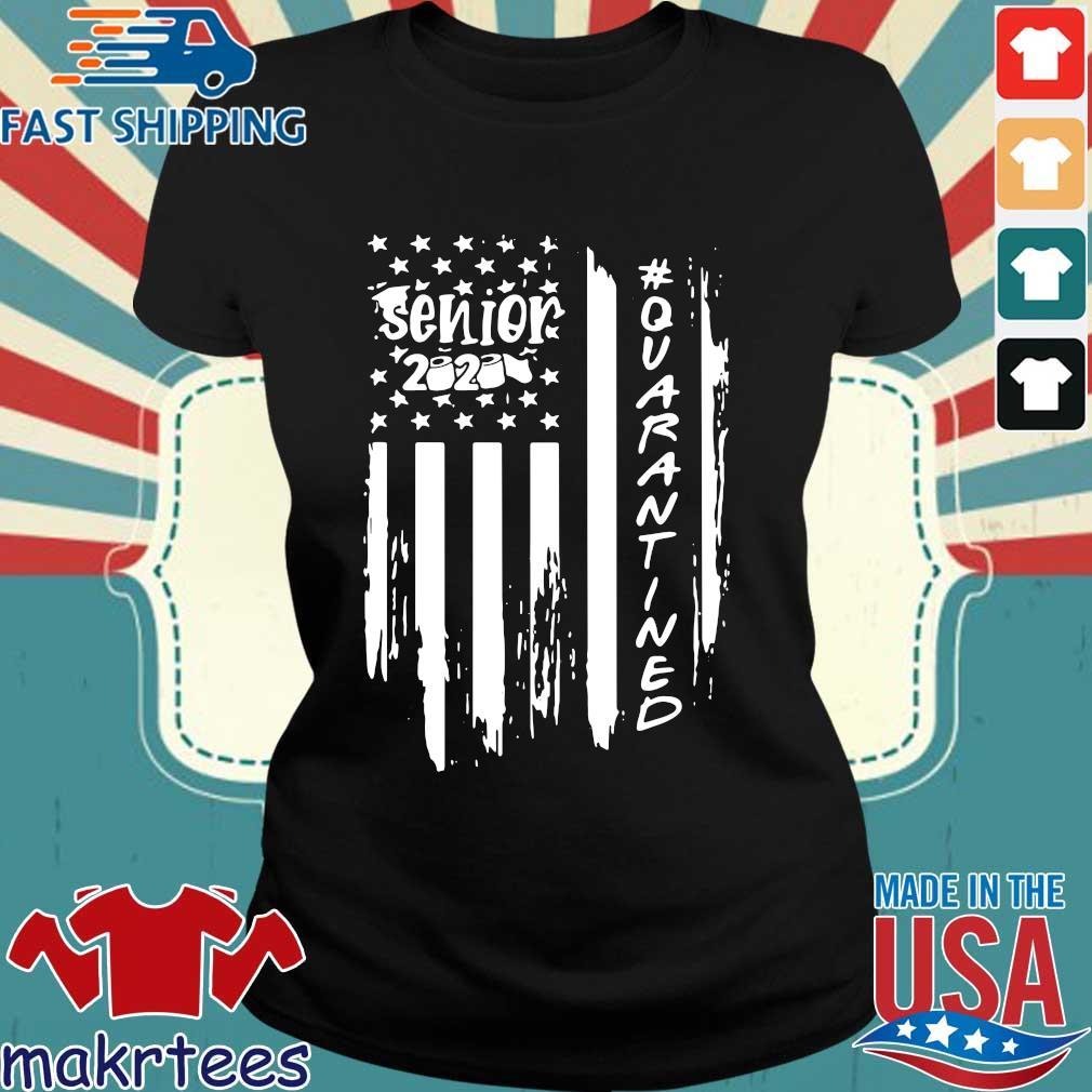 Senior 2020 Quarantine American Flag Shirt Ladies den