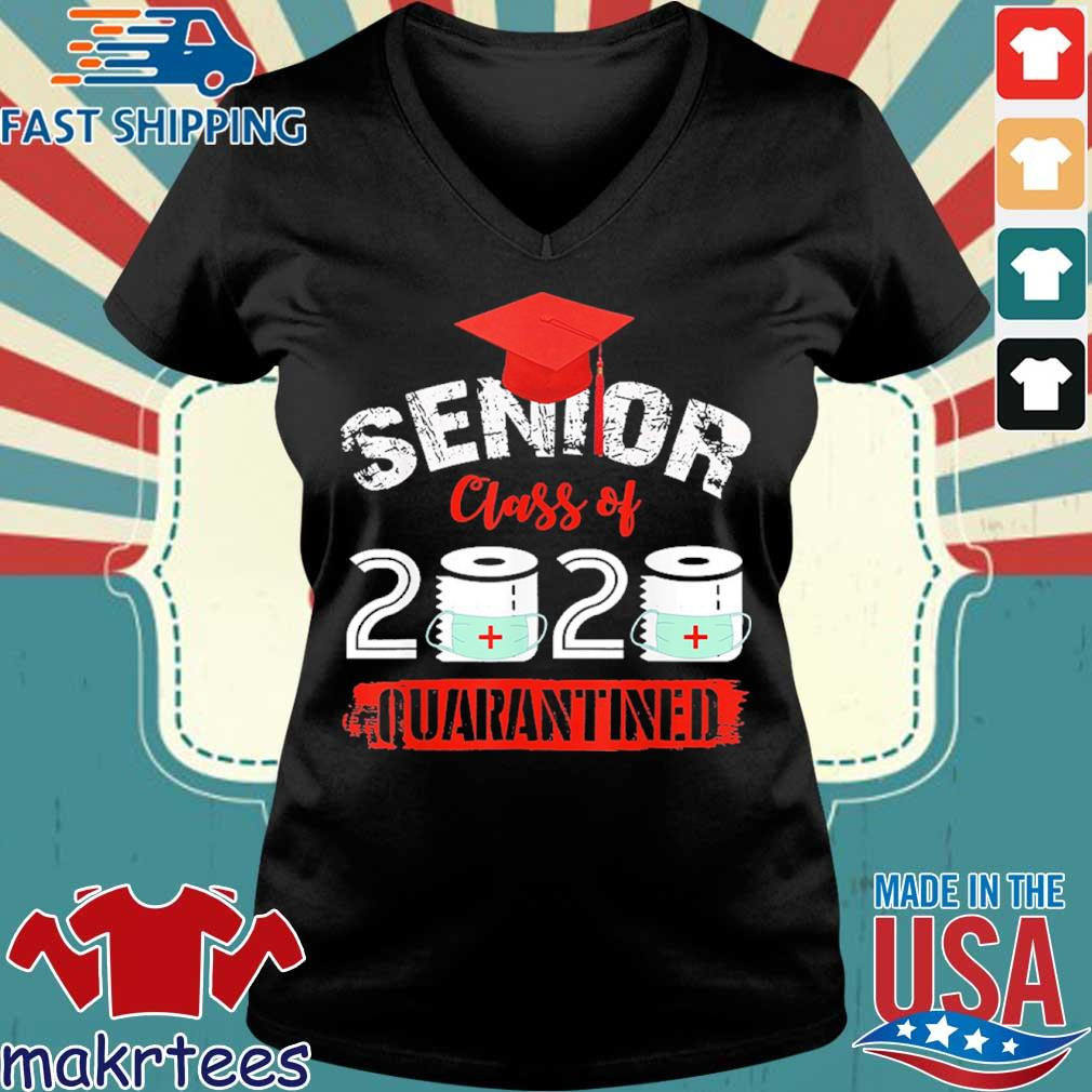 Seniors Class Of 2020 Virus Quarantine Grad Shirt Ladies V-neck den
