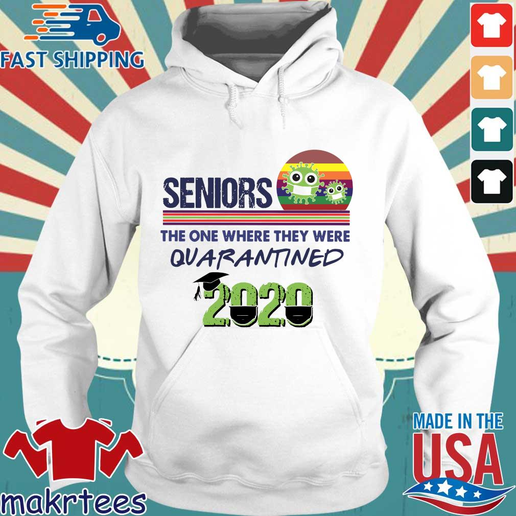 Seniors the one where they were Quarantined 2020 Vintage Shirt Hoodie trang