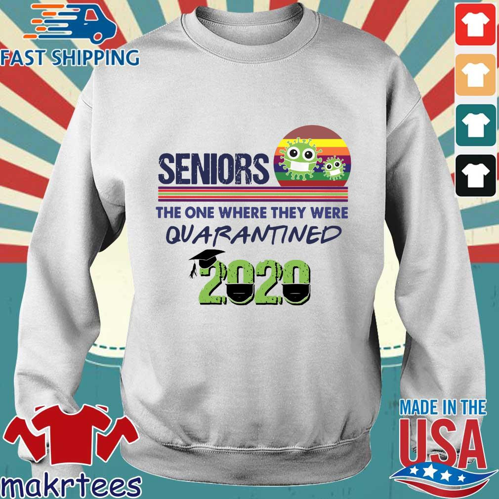Seniors the one where they were Quarantined 2020 Vintage Shirt Sweater trang