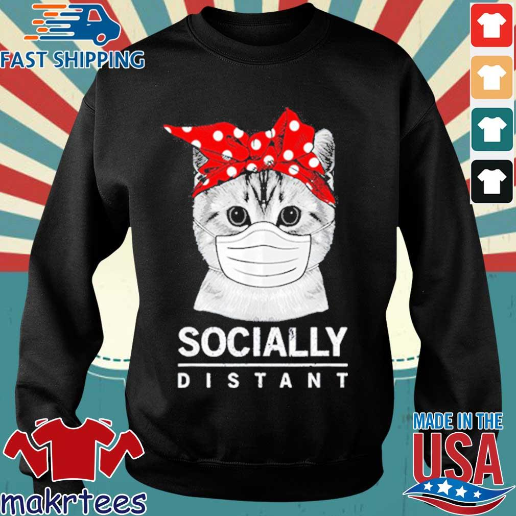 Social Distance Virus Prevention Socially Distant Cat Lover Shirt Sweater den