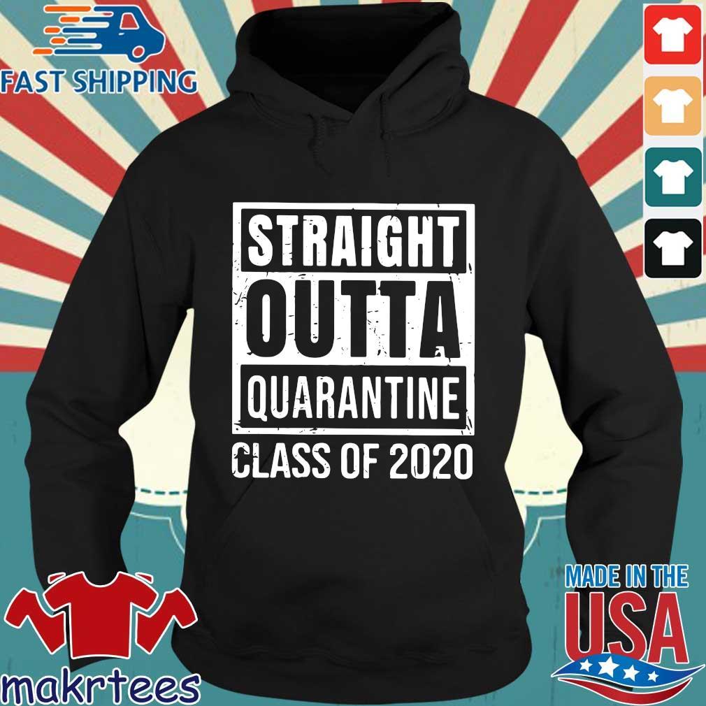 Straight Outta Quarantine Class Of 2020 Distressed Classic Shirt Hoodie den