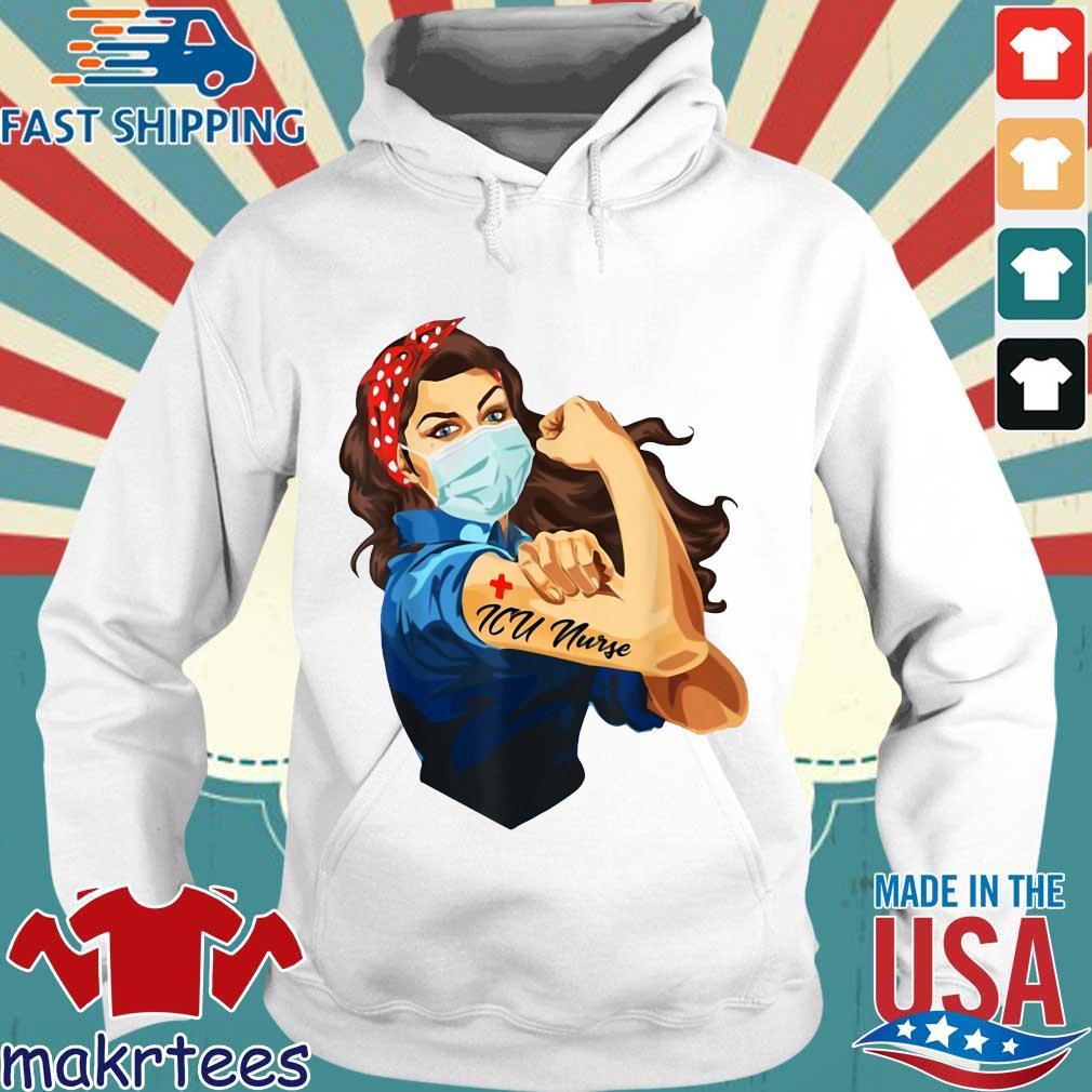 Strong Woman Mask ICU Nurse Coronavirus Shirt Hoodie trang