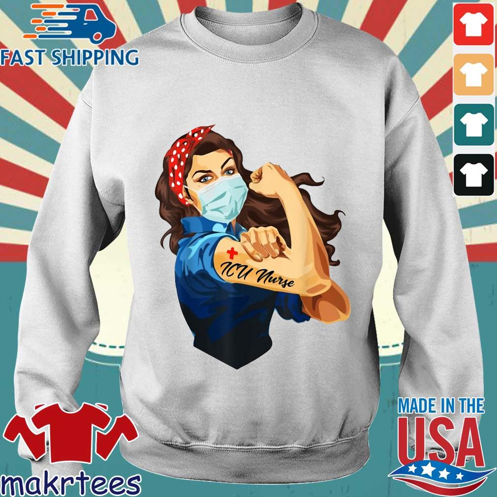 Strong Woman Mask ICU Nurse Coronavirus Shirt Sweater trang