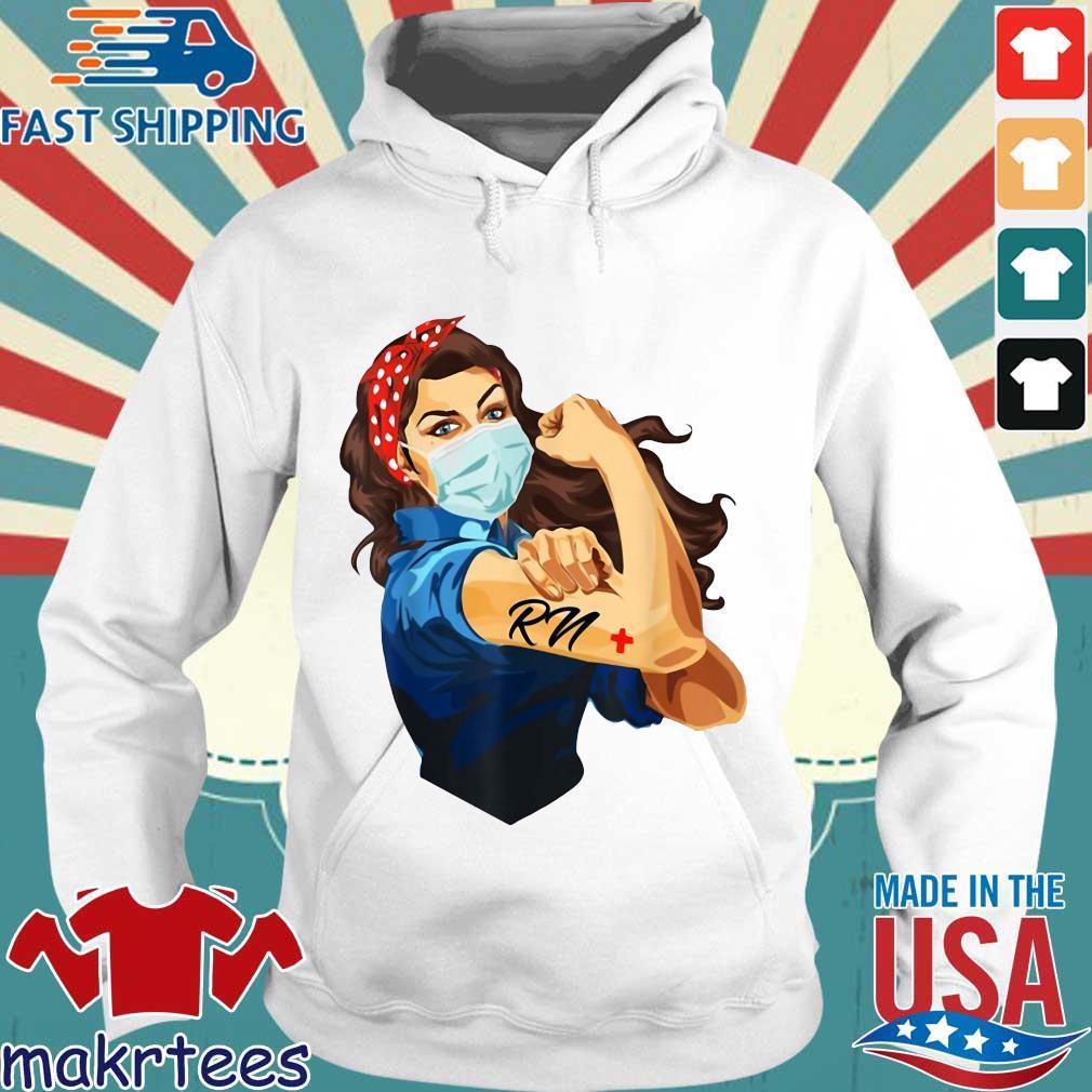 Strong Woman Mask RN Coronavirus Shirt Hoodie trang