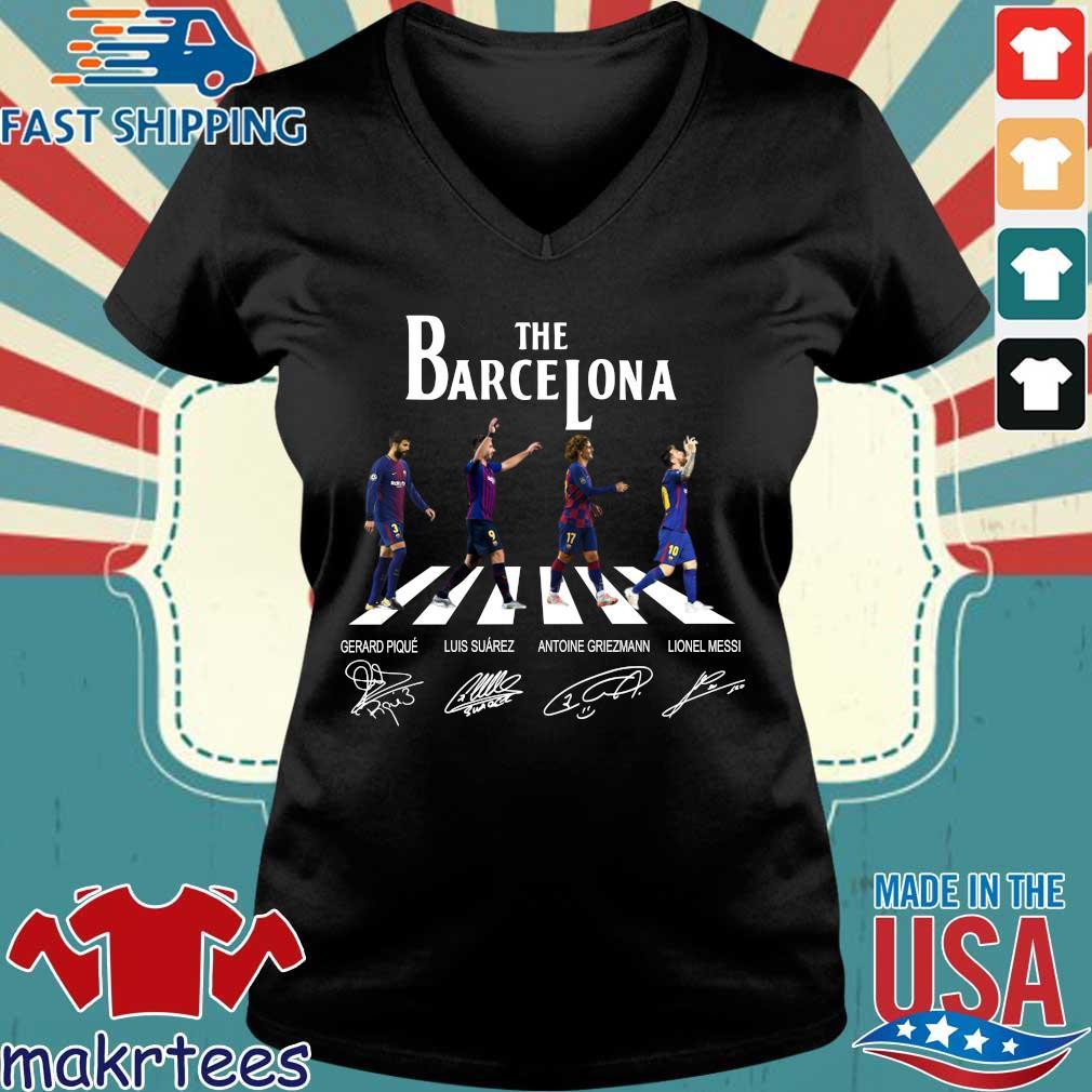 The Barcelona Abbey Road Signatures Shirt Ladies V-neck den