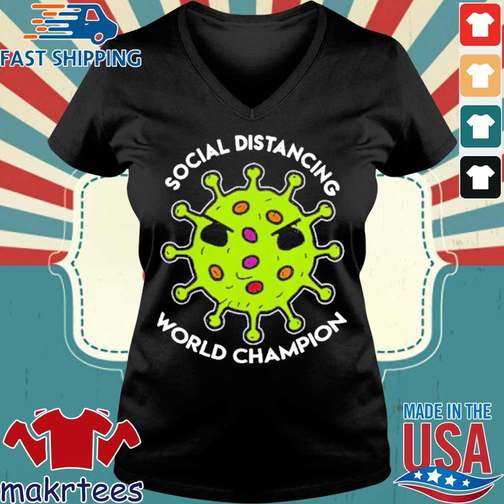 Virus social distancing world champion 2020 T-Shirt Ladies V-neck den