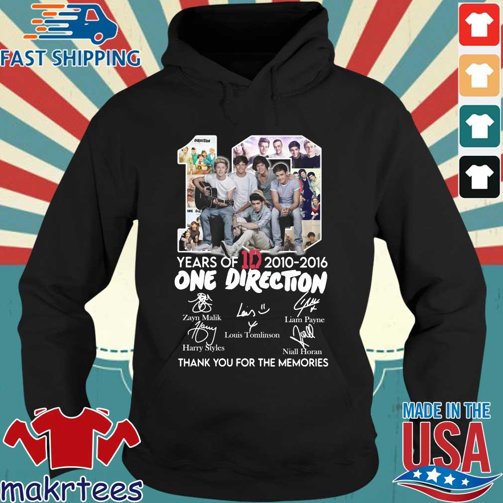 10 Years Of 1d 2010-2016 One Direction Thank You For The Memories Signatures Shirt Hoodie den