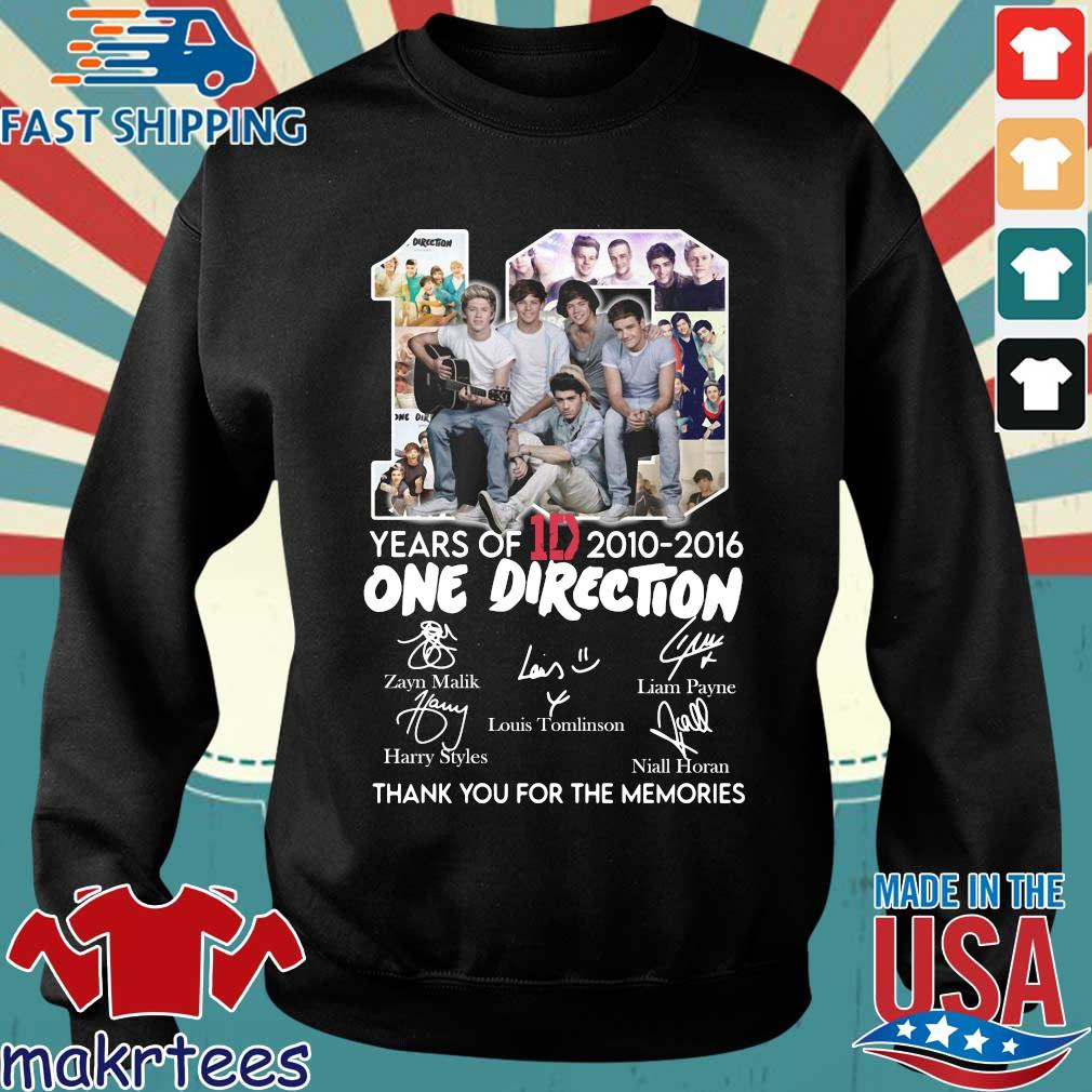 10 Years Of 1d 2010-2016 One Direction Thank You For The Memories Signatures Shirt Sweater den