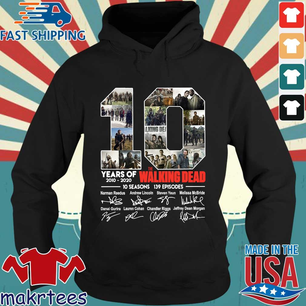 10 Years Of The Walking Dead 2010 2020 10 Seasons 139 Episodes Signatures Shirt Hoodie den