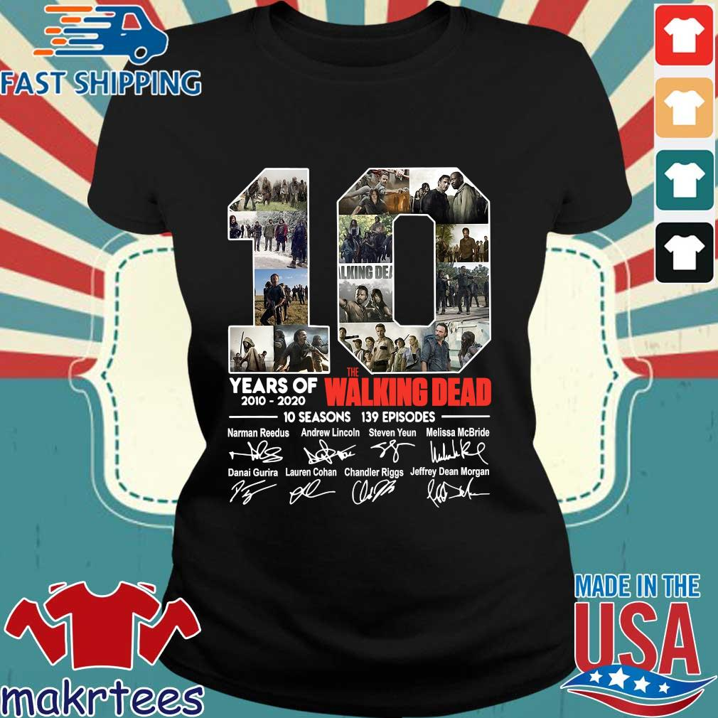 10 Years Of The Walking Dead 2010 2020 10 Seasons 139 Episodes Signatures Shirt Ladies den