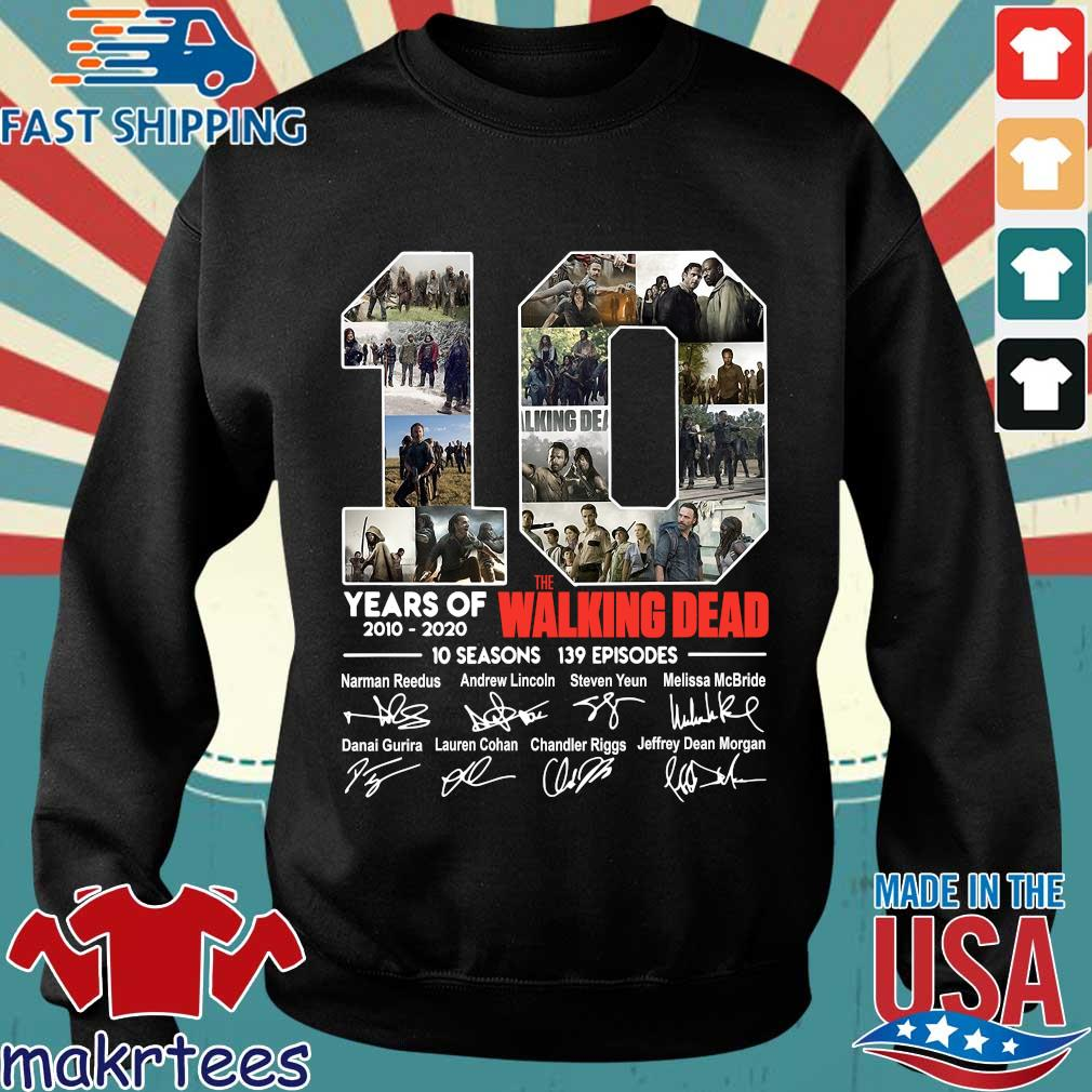 10 Years Of The Walking Dead 2010 2020 10 Seasons 139 Episodes Signatures Shirt Sweater den