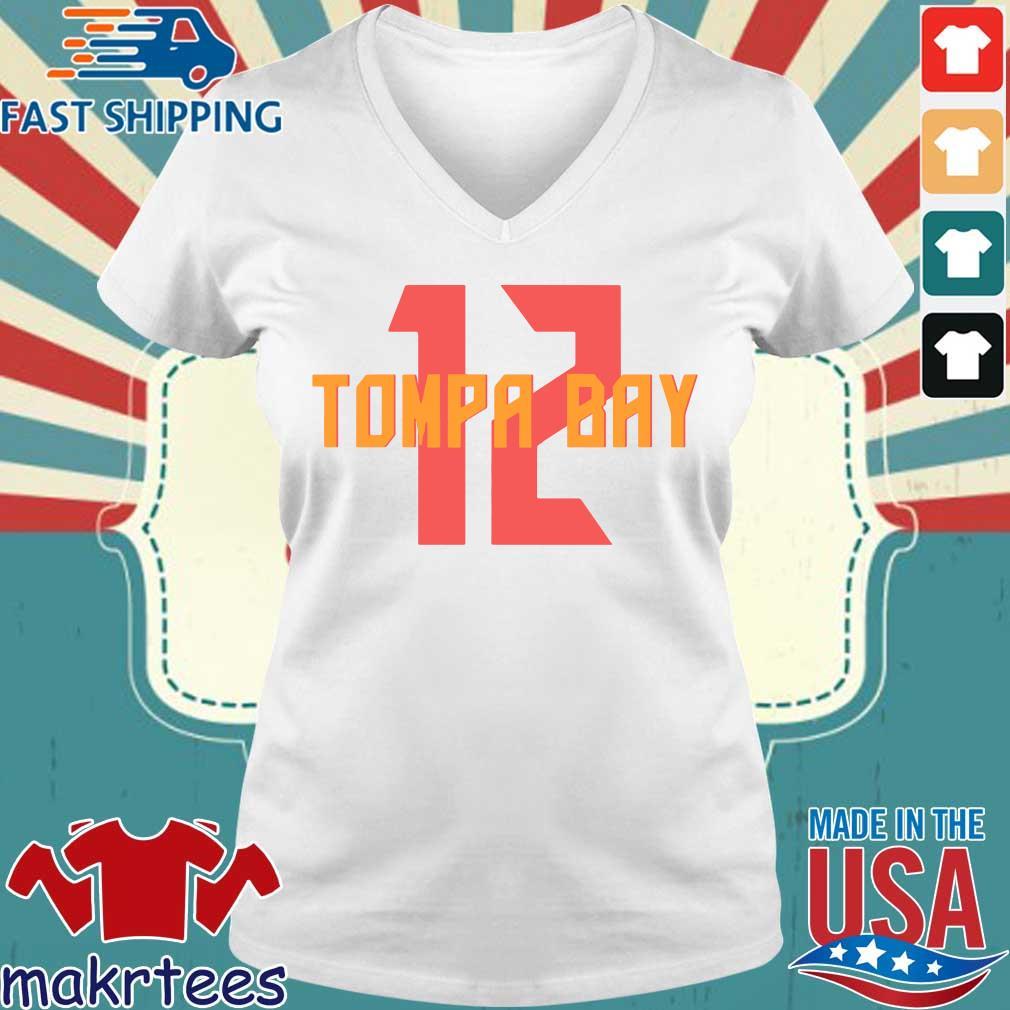 12 Tompa Bay Shirt Ladies V-neck trang