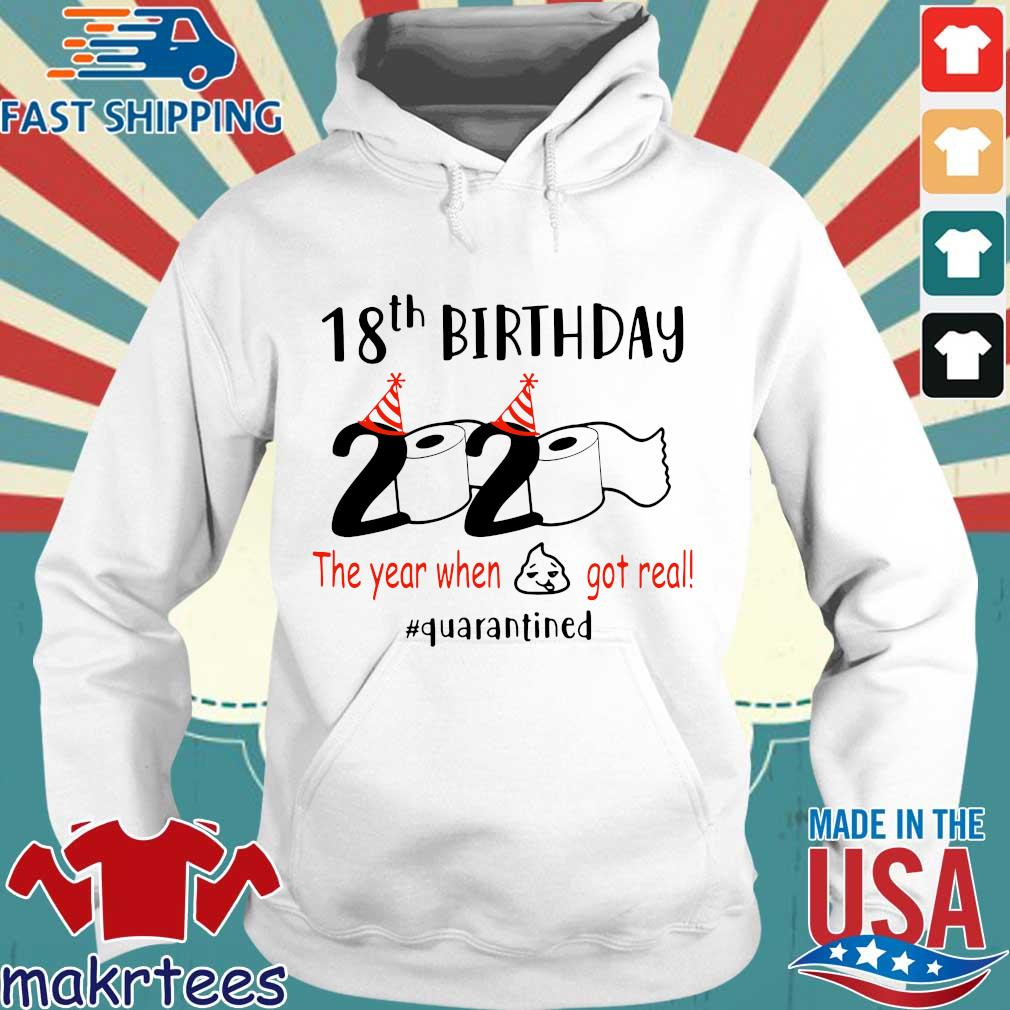 18th Birthday 1992 2020 The Year When Shit Got Real Quarantined Shirt Hoodie trang