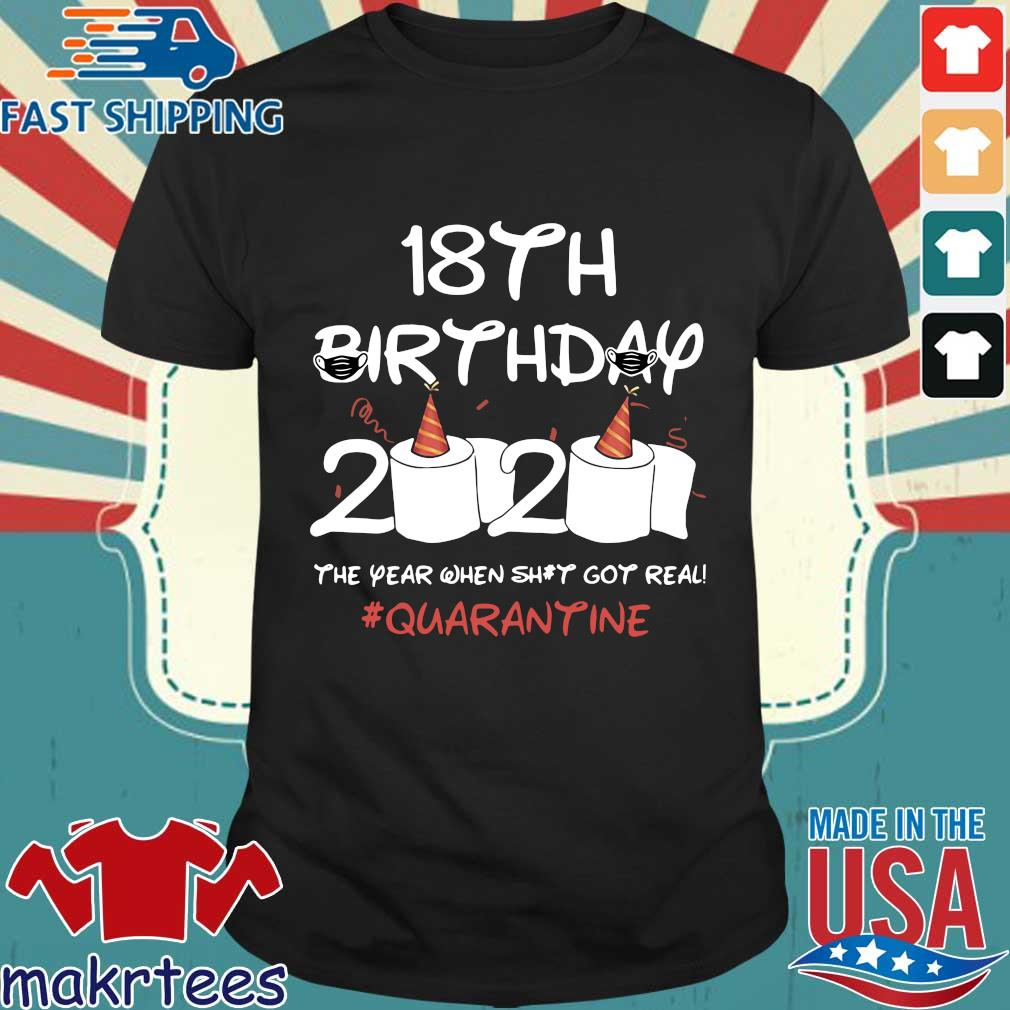 18th Birthday 2020 Toilet Paper The Year When Shit Got Real Quarantine Shirt