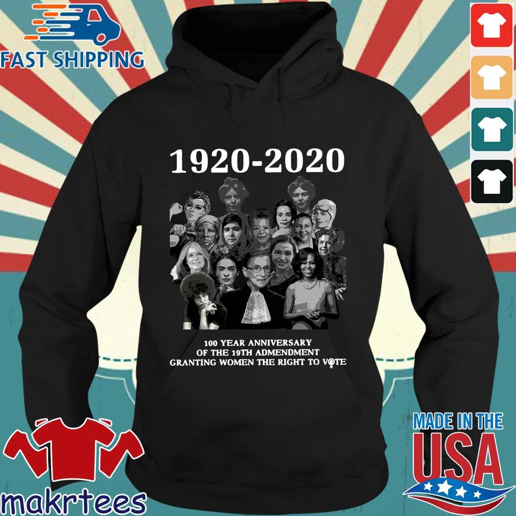 1920 2020 100 Years Anniversary Of The 19th Amendment Granting Women The Right To Vote Shirt Hoodie den