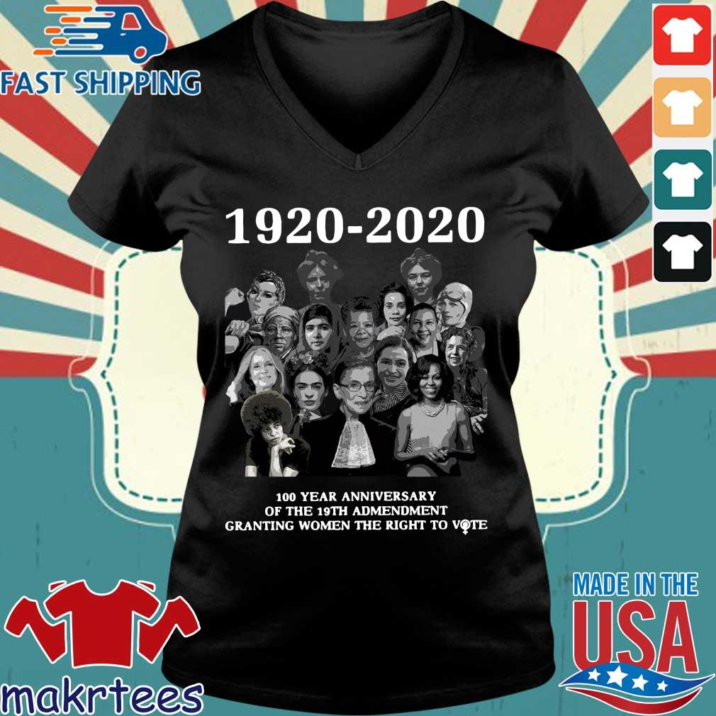 1920 2020 100 Years Anniversary Of The 19th Amendment Granting Women The Right To Vote Shirt Ladies V-neck den