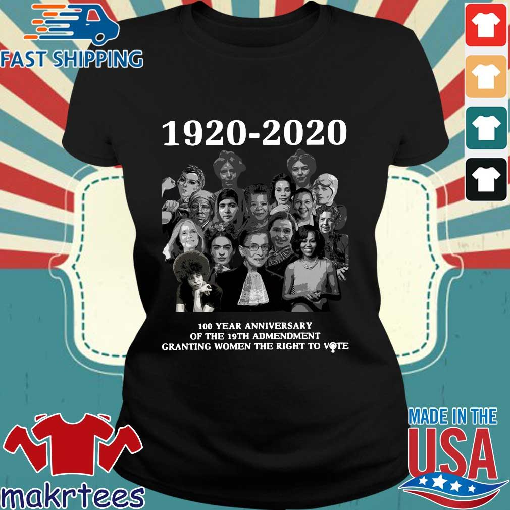 1920 2020 100 Years Anniversary Of The 19th Amendment Granting Women The Right To Vote Shirt Ladies den