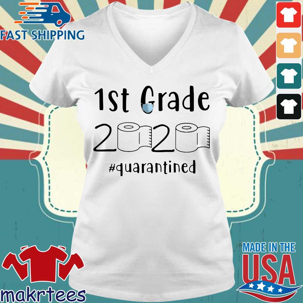 1st Grade 2020 Toilet Paper #quarantined Shirt Ladies V-neck trang