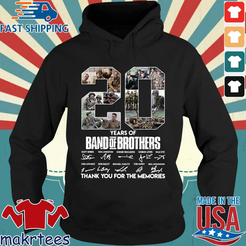 20 Years Of Band Of Brothers Thank You For The Memories Signatures Shirt Hoodie den