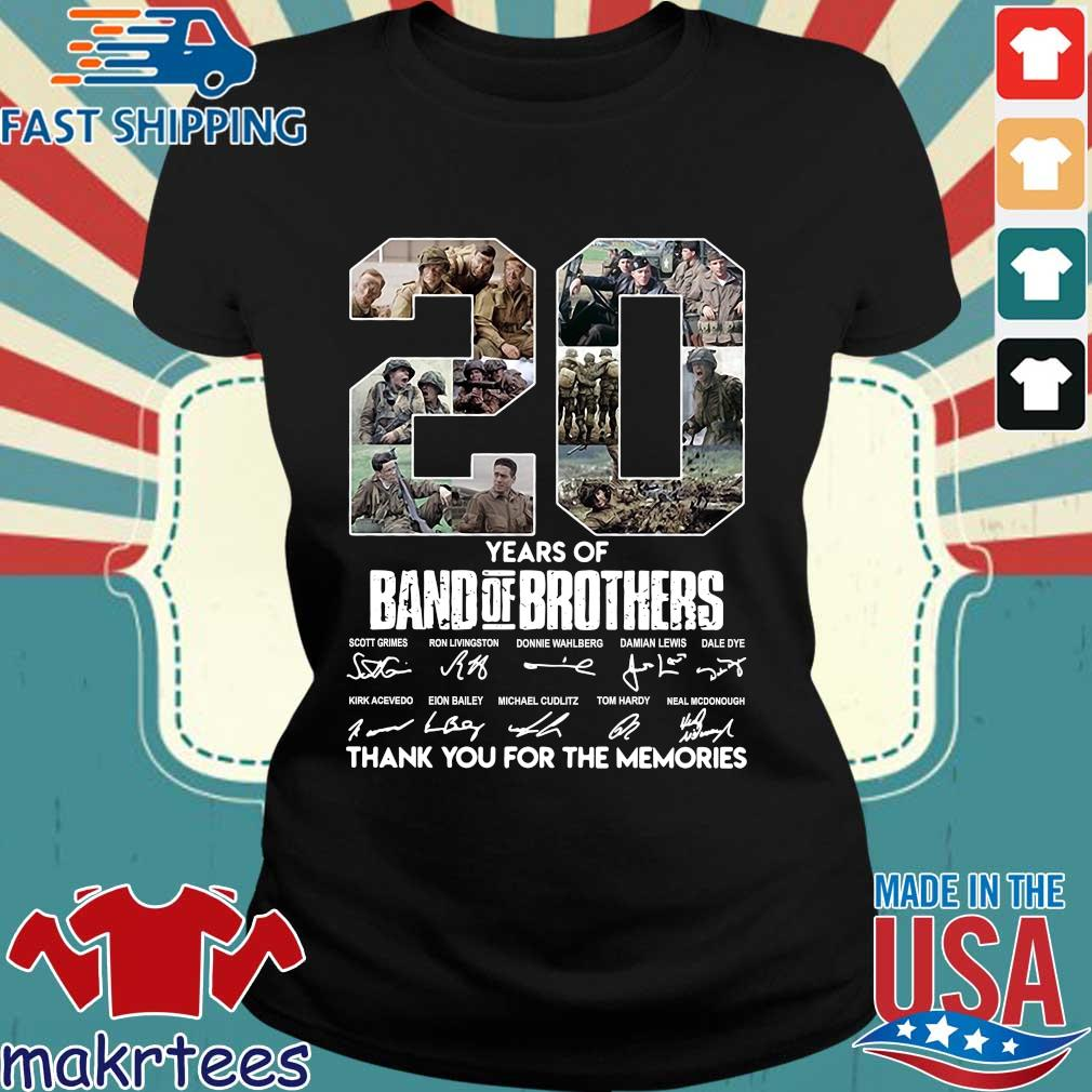 20 Years Of Band Of Brothers Thank You For The Memories Signatures Shirt Ladies den