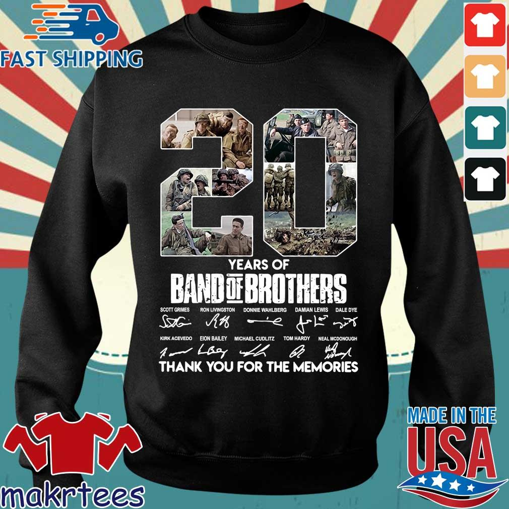 20 Years Of Band Of Brothers Thank You For The Memories Signatures Shirt Sweater den