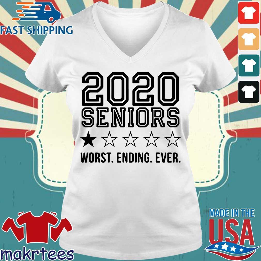 2020 Seniors Worst Ending Ever Tee Shirts Ladies V-neck trang