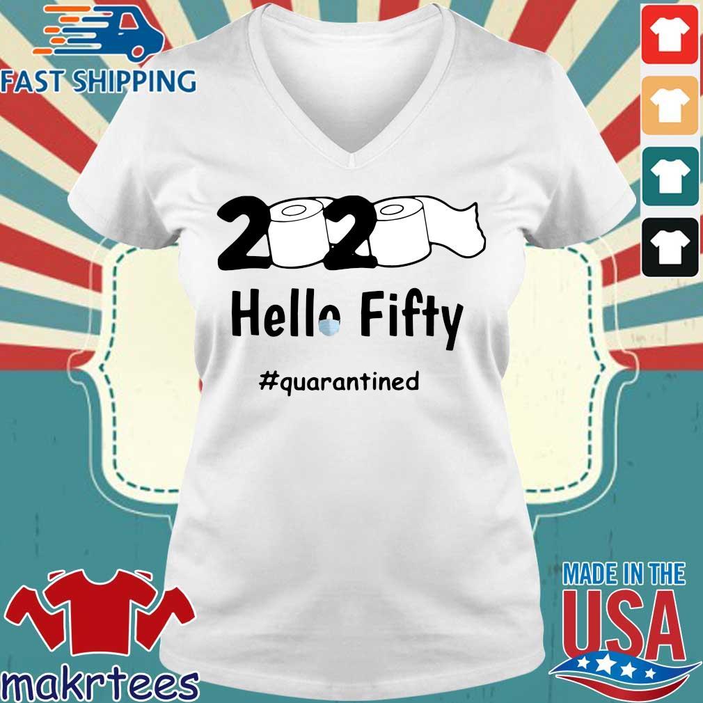 2020 Toilet Paper Fifty Quarantined Shirt Ladies V-neck trang
