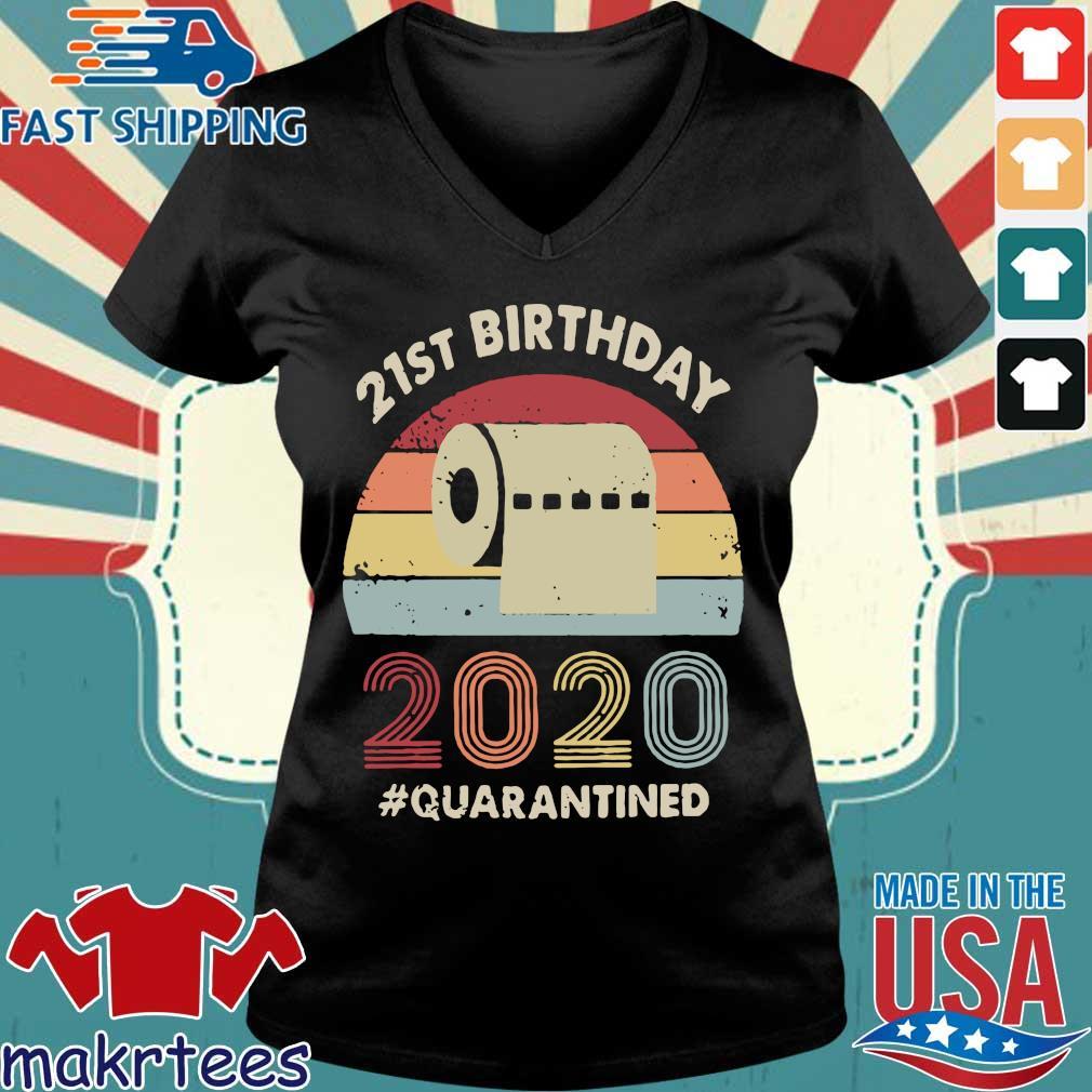 21st Birthday 2020 Quarantine Vintage Shirt Ladies V-neck den