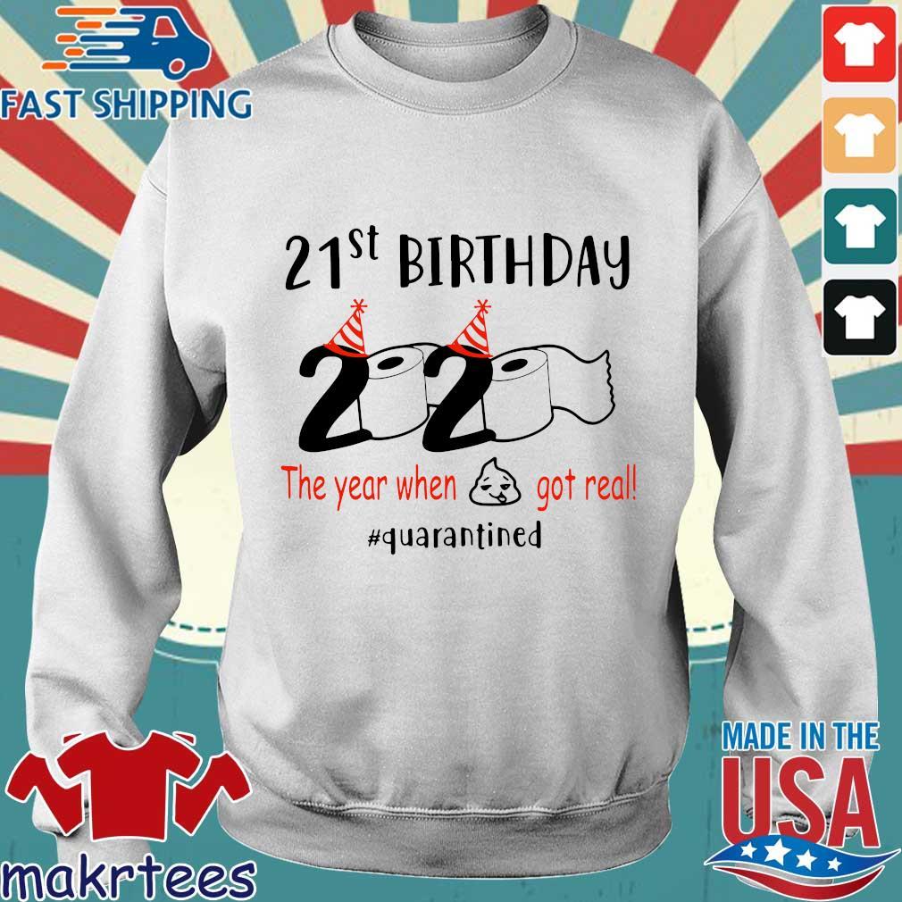 21th Birthday 1999 2020 The Year When Shit Got Real Quarantined Shirt Sweater trang