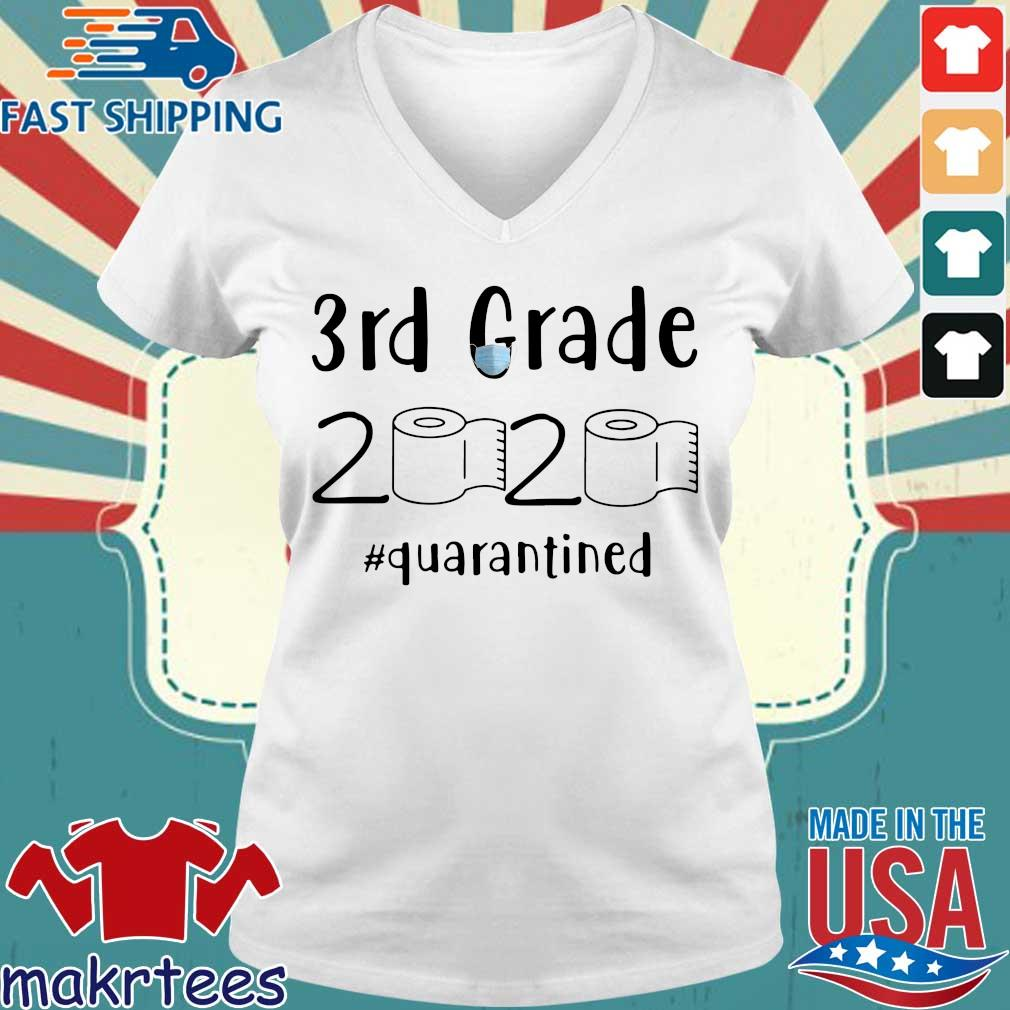 3rd Grade 2020 Toilet Paper #quarantined Shirt Ladies V-neck trang