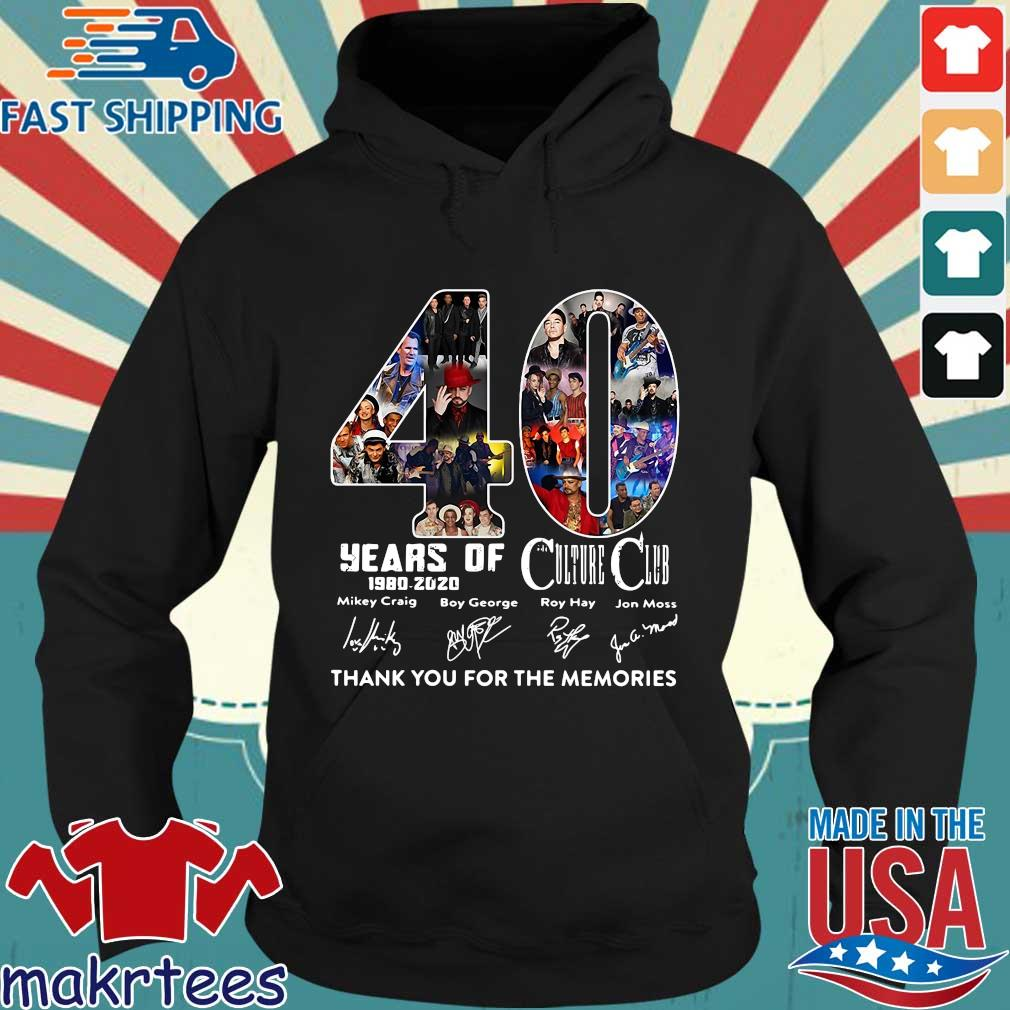 40 Years Of Culture Club 1980-2020 Signatures Thank You For The Memories Shirt Hoodie den