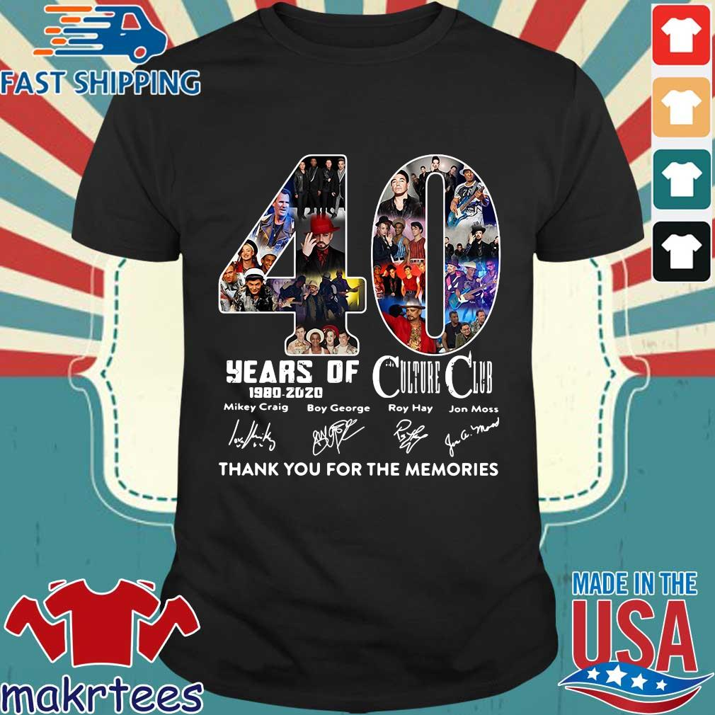 40 Years Of Culture Club 1980-2020 Signatures Thank You For The Memories Shirt