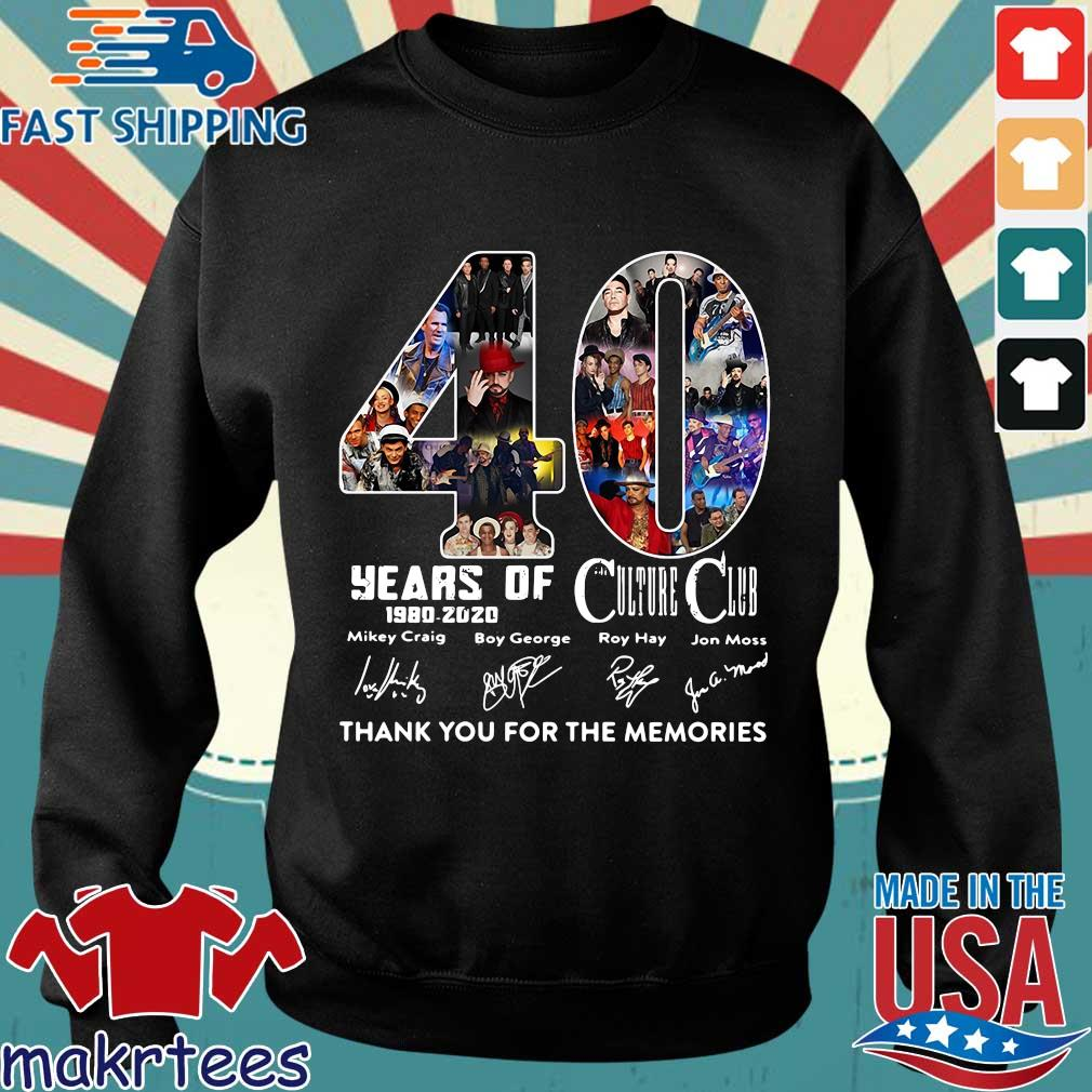 40 Years Of Culture Club 1980-2020 Signatures Thank You For The Memories Shirt Sweater den