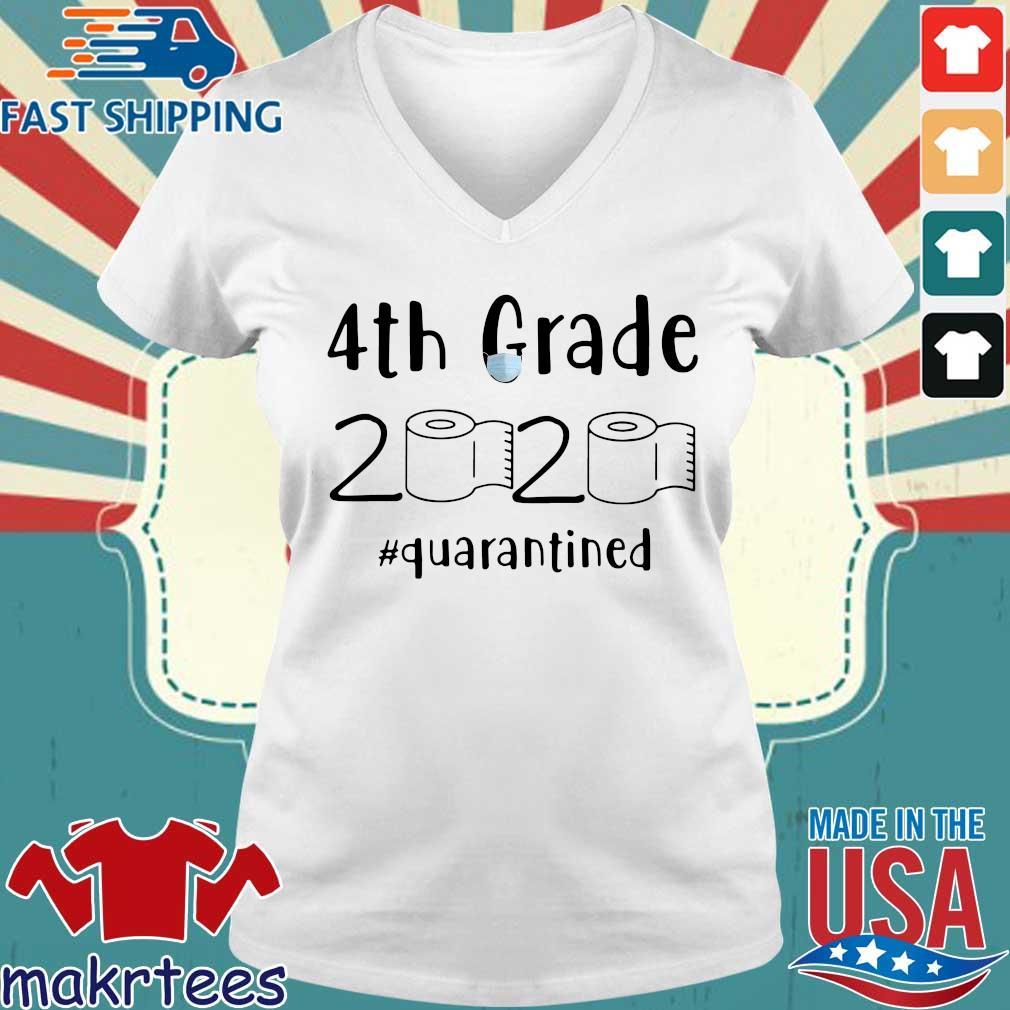 4th Grade 2020 Toilet Paper #quarantined Shirt Ladies V-neck trang