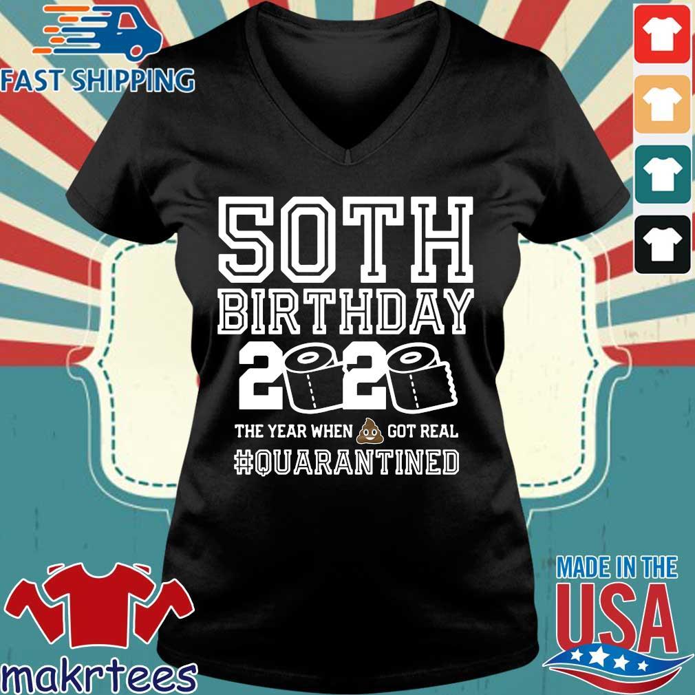 50th Birthday Shirt, Quarantine Shirt, The One Where I Was Quarantined 2020 Tee Shirts Ladies V-neck den