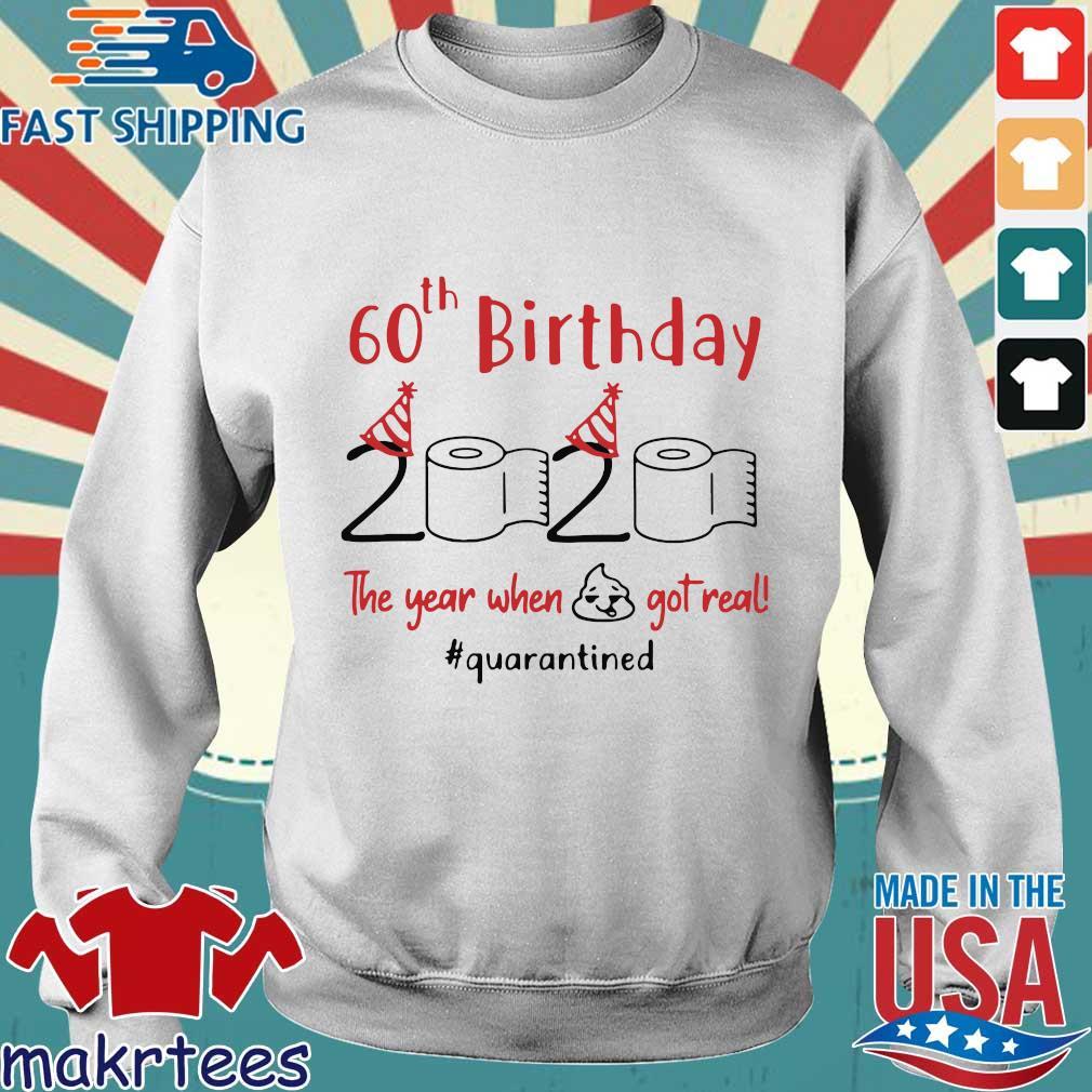60th Birthday 2020 The Year When Shit Got Real Quarantined Shirt Sweater trang