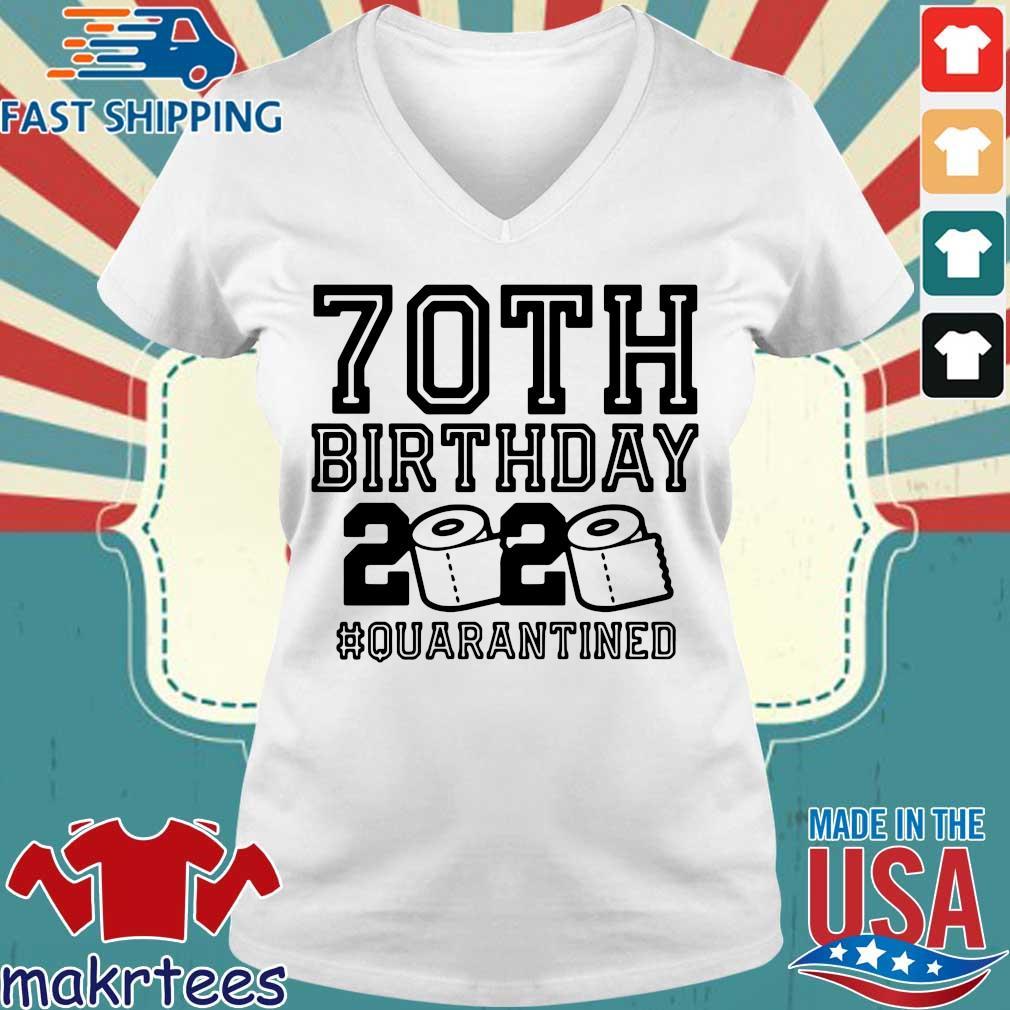 70th Birthday 2020 Toilet Paper Quarantine Shirt Ladies V-neck trang