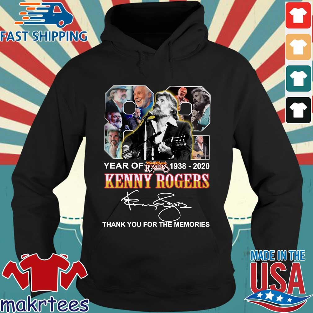 82 Year Of Kenny Rogers 1938-2020 Thank You For The Memories Signatures Shirt Hoodie den