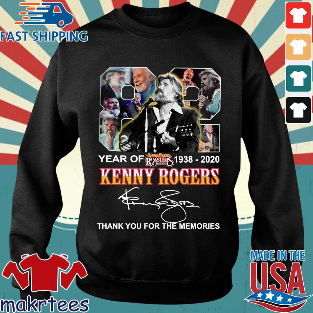 82 Year Of Kenny Rogers 1938-2020 Thank You For The Memories Signatures Shirt Sweater den