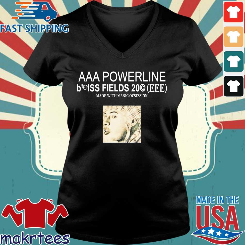 Aaa Poweeline B'eiss Fields Made With Manic Obsession Shirt Ladies V-neck den