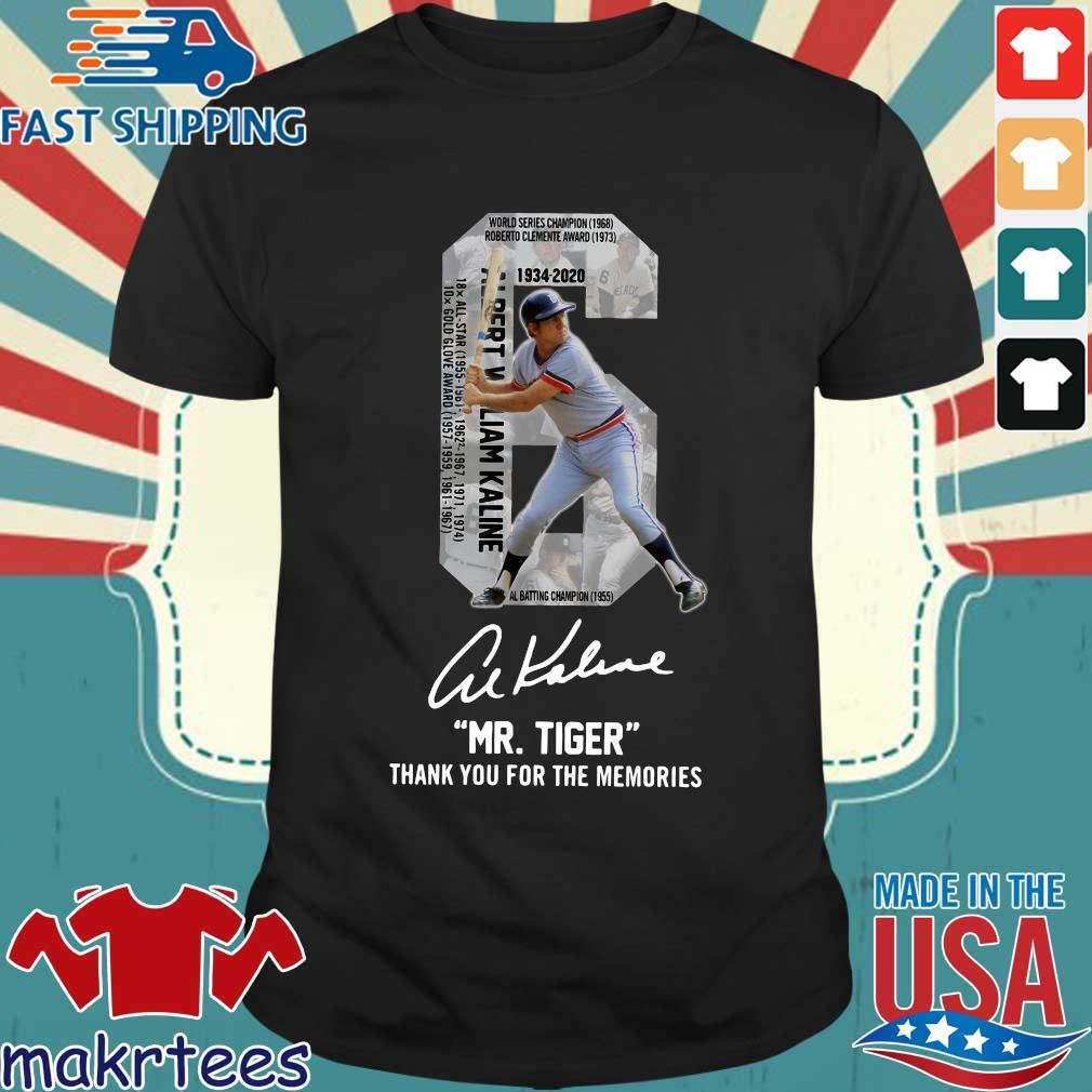 Albert William Kaline 6 Mr.tiger Thank You For The Memories Signatures Shirt