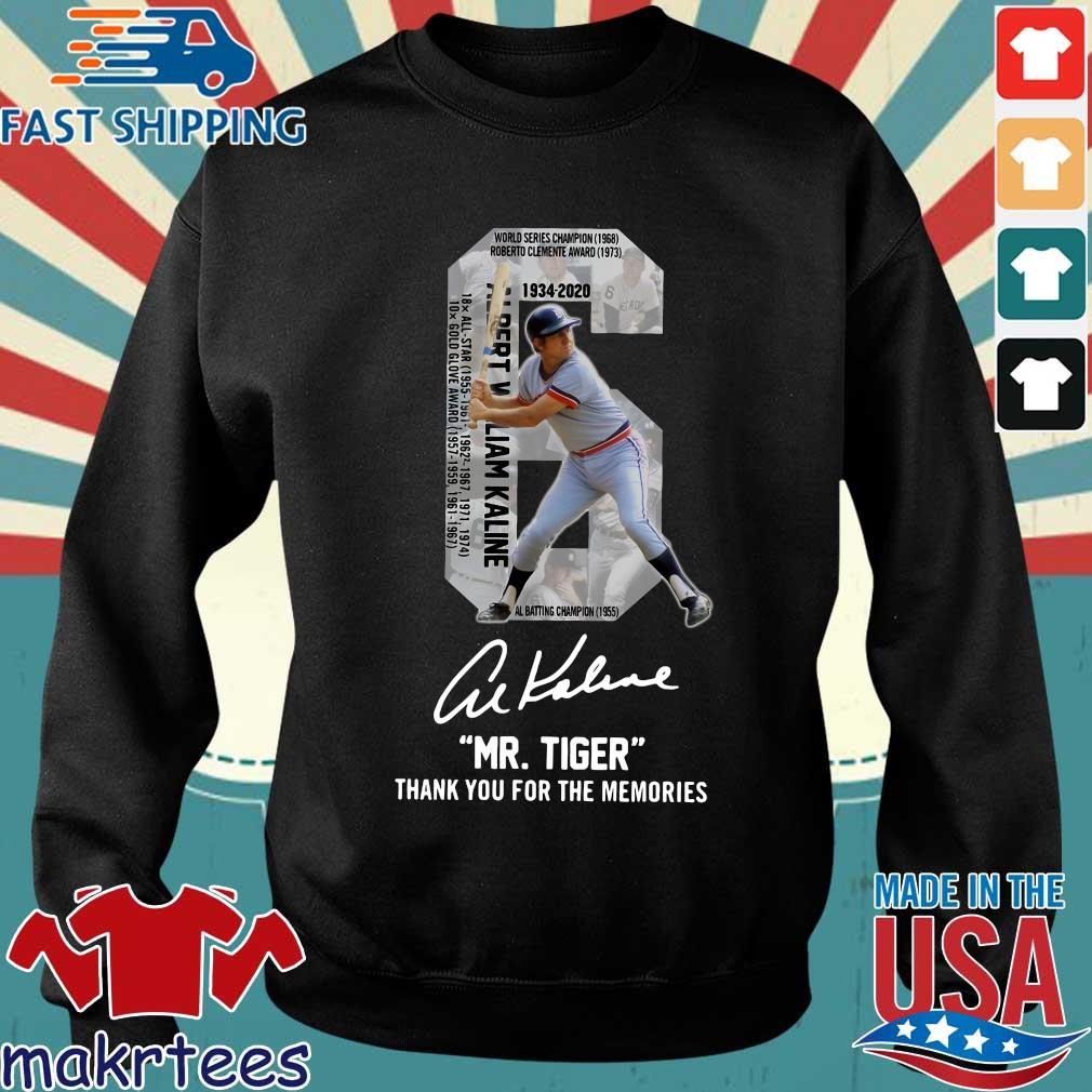 Albert William Kaline 6 Mr.tiger Thank You For The Memories Signatures Shirt Sweater den