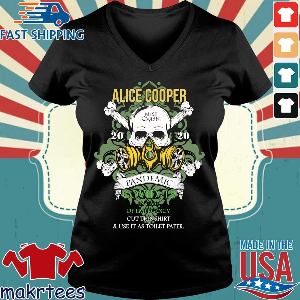 Alice Cooper 2020 Pandemic In Case Of Emergency Shirt Ladies V-neck den