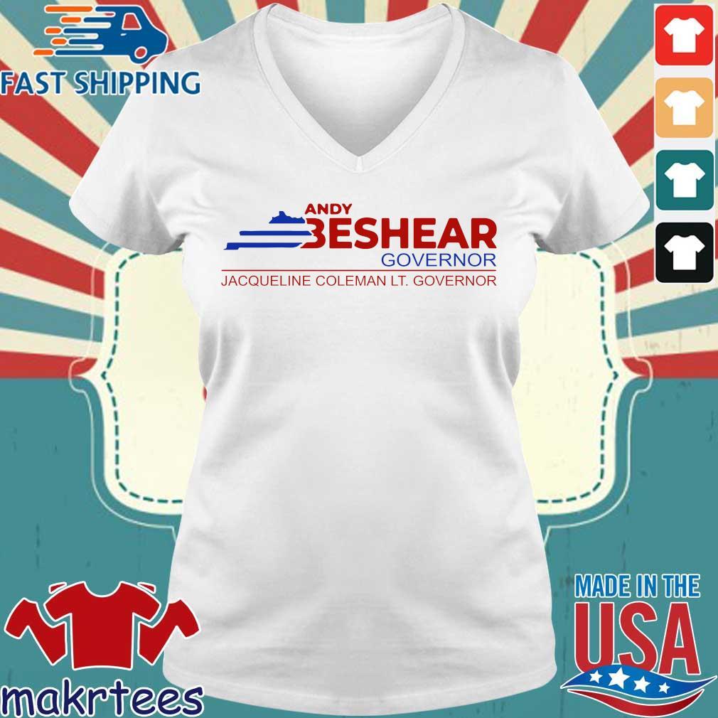 Andy Beshear Governor Shirt Ladies V-neck trang