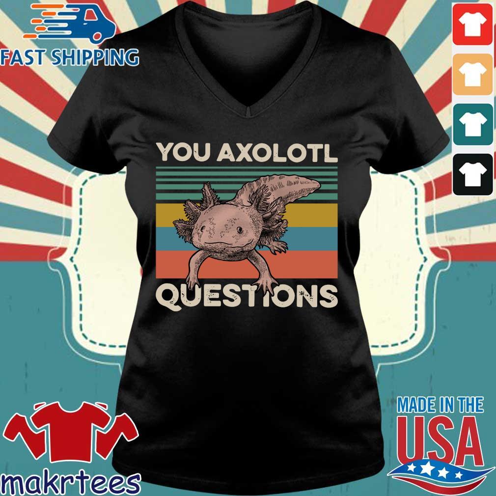 Animal You Axolotl Questions Vintage Shirt Ladies V-neck den