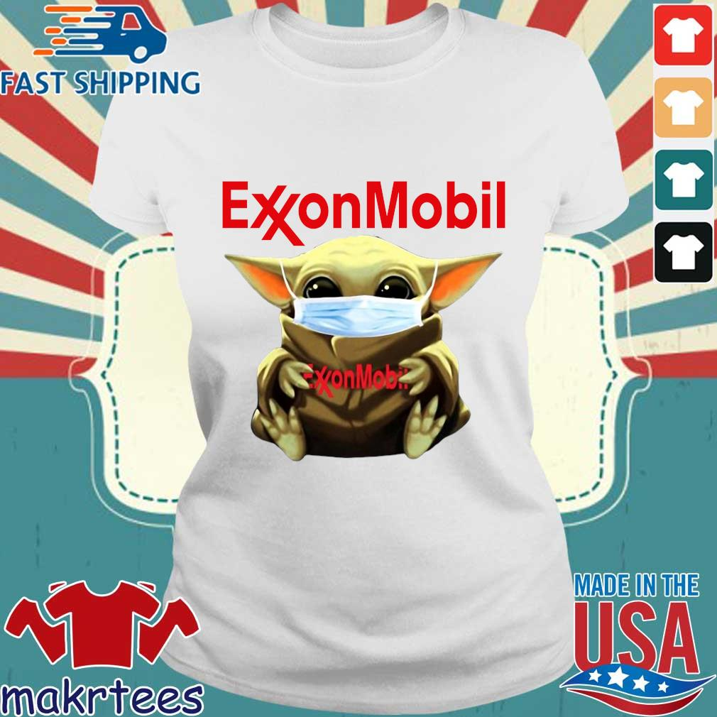 Baby Yoda Face Mask Hug Exxon Mobil Shirt Ladies trang