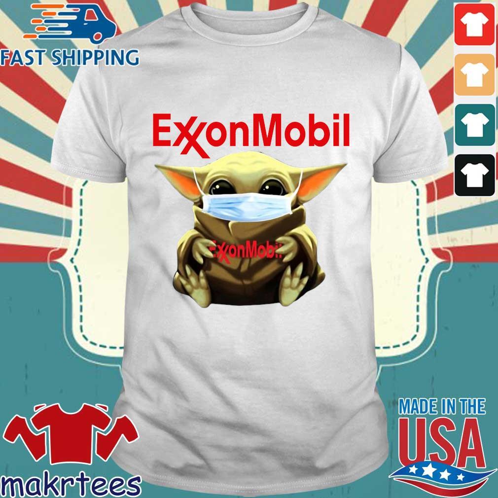Baby Yoda Face Mask Hug Exxon Mobil Shirt