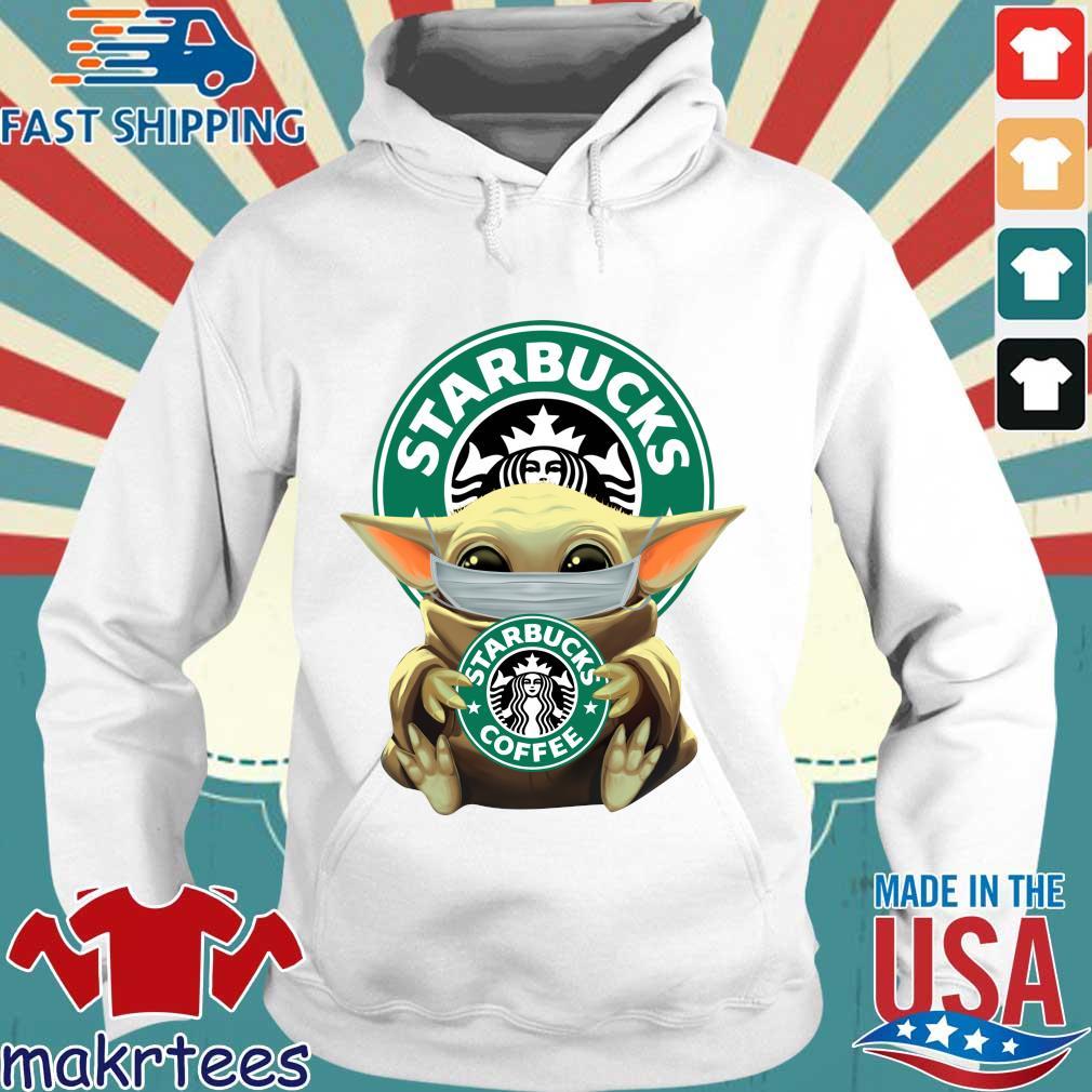 Baby Yoda Face Mask Hug Starbucks Coffee Shirt Hoodie trang